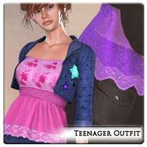 Teenager for Dawn, V5, V6 3D Figure Assets jroulin