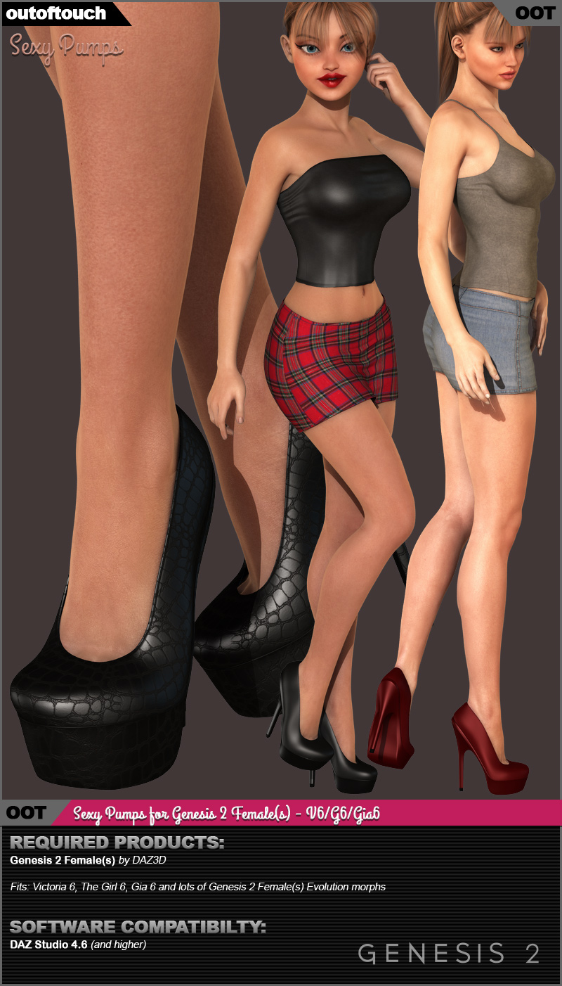 Sexy Pumps for Genesis 2 Female(s) - V6/G6/Gia