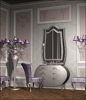 Lilac Blossom - Vanity Corner Themed Props/Scenes/Architecture Software GrayCloudDesign