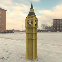 Big Ben (for Poser and Vue) 3D Models Digimation_ModelBank