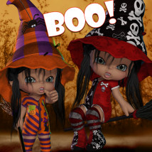 Boo Themed Clothing Stand Alone Figures JudibugDesigns