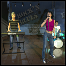 Rock band instruments and stage image 2