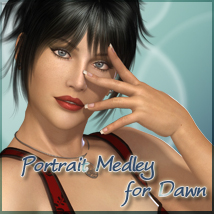 Portrait Medley for Dawn 3D Figure Assets 3D Models lunchlady