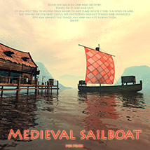 Medieval sailboat 3D Models 1971s