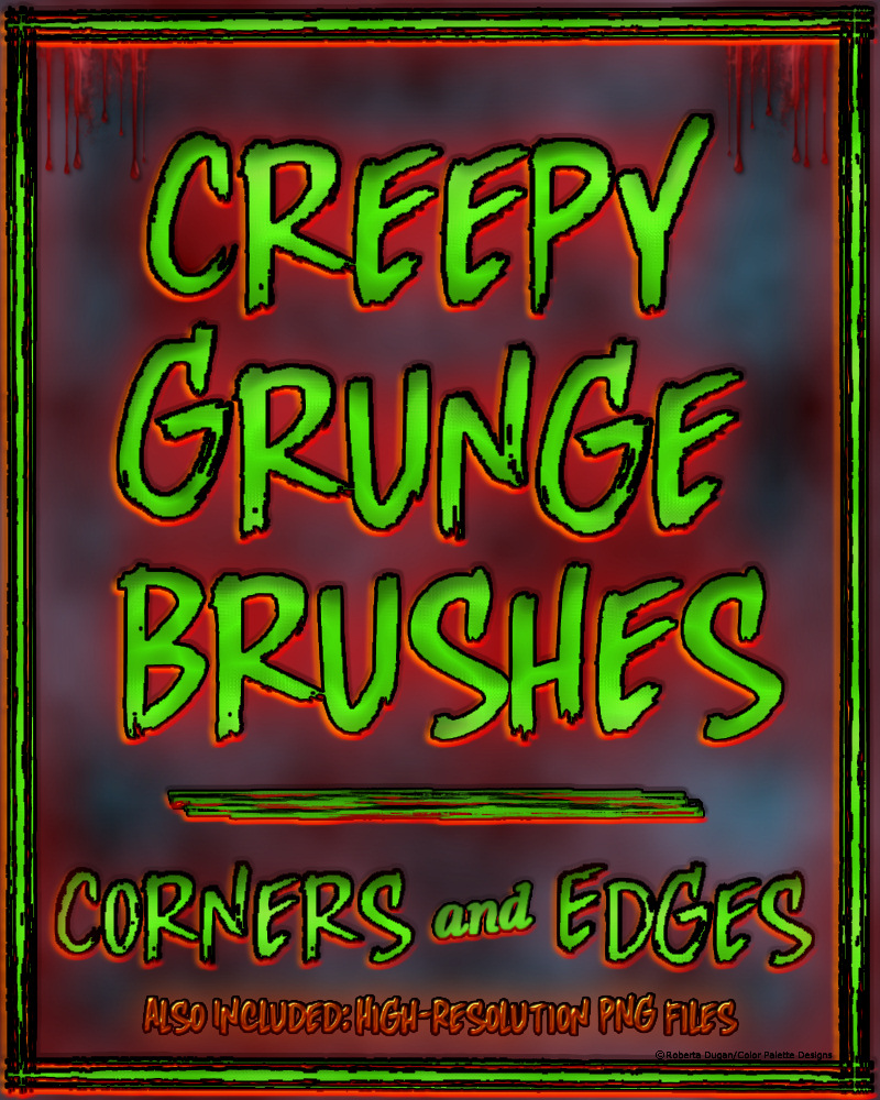 CREEPY GRUNGE Brushes: Corners and Edges