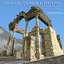 AJ Greek Temple Ruins 3D Models -AppleJack-
