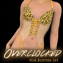 Overclocked for Bustier Set 3D Figure Essentials 3D Models karibousboutique