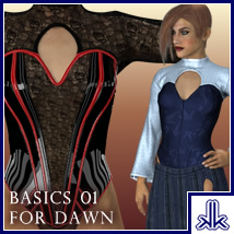Basics 01 for Dawn 3D Figure Essentials kobaltkween