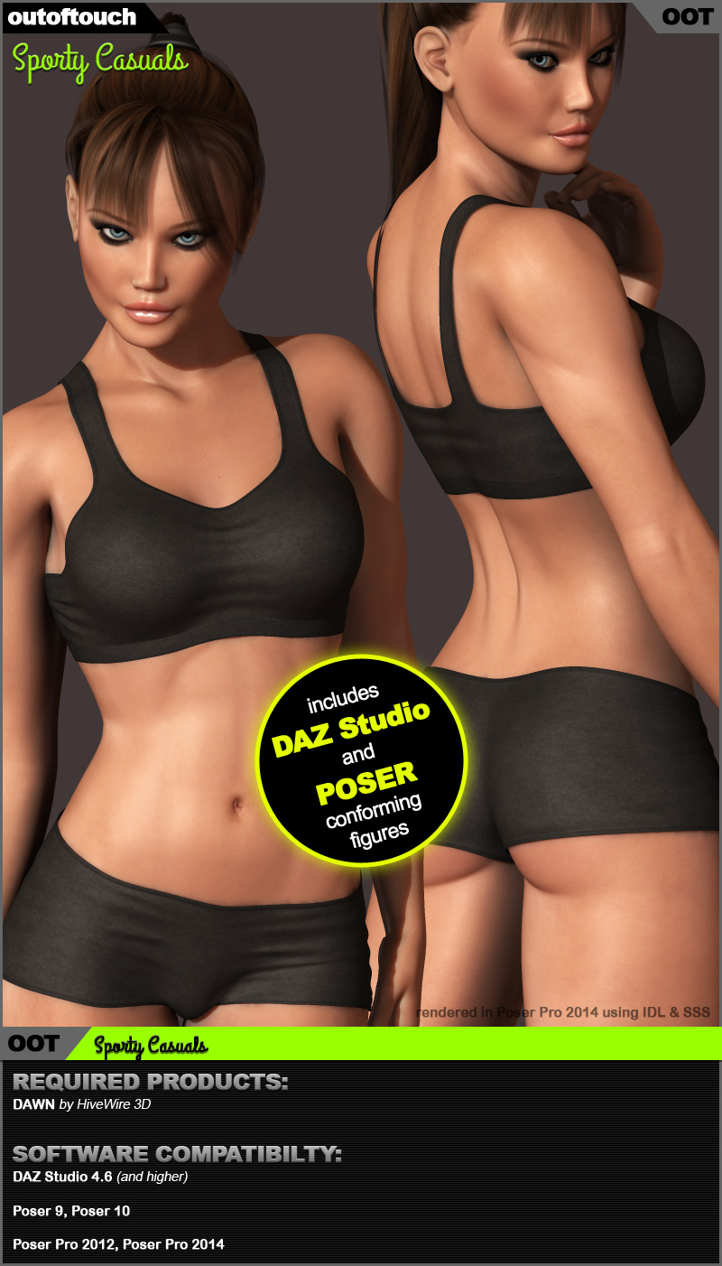 Dawn's Sporty Casuals (Poser & DS)