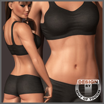Dawn's Sporty Casuals (Poser & DS) 3D Figure Essentials outoftouch