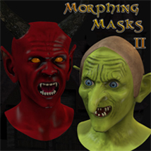 Morphing Halloween Masks II 3D Figure Assets 3D Models Underworld_Designs