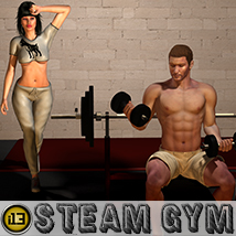 i13 STEAM gym 3D Models 3D Figure Assets ironman13