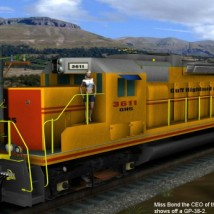 UkSoft Railroad GP-38 Loco Transportation Themed mikada