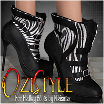 OziStyle: Hedley Boots 3D Figure Essentials 3D Models OziChick