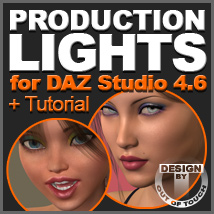 OOT Production Lights for DAZ Studio 4.6 (+Tutorial) 3D Lighting : Cameras Tutorials : Learn 3D outoftouch
