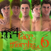 Farconville's Face Morphs for Michael 4 Vol.6 3D Models 3D Figure Assets farconville