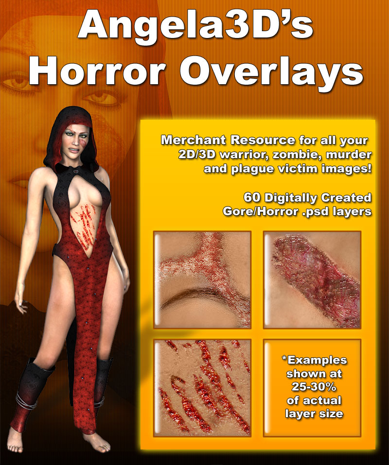 Angela3D's Horror Overlays