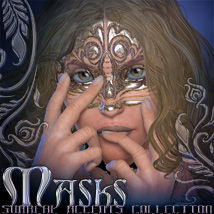 Surreal Accents Collection: Masks 1 3D Figure Essentials 3D Models surreality
