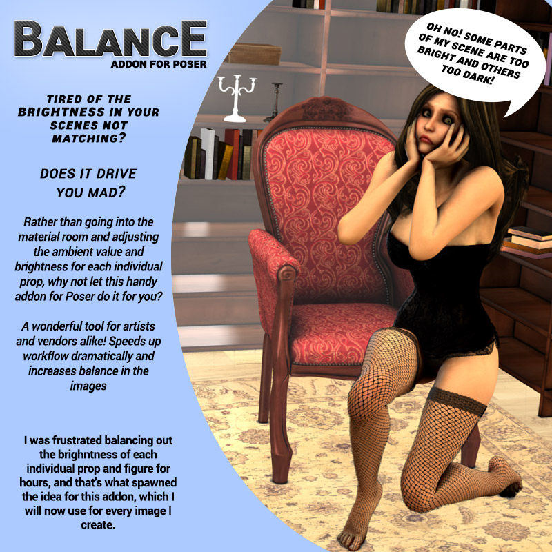 BALANCE addon for Poser by ironman13