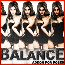 BALANCE addon for Poser 3D Lighting : Cameras ironman13