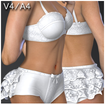 Frilled Lingerie V4-A4 3D Figure Essentials nikisatez