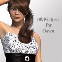 DWPEdress for Dawn 3D Figure Assets kobamax