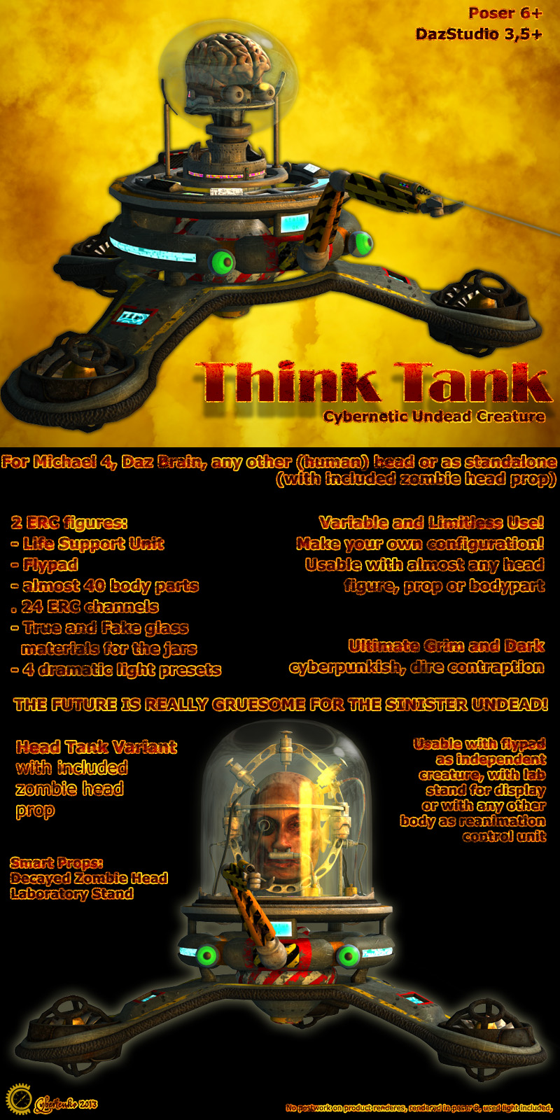 Think Tank - Cybernetic Undead Creature