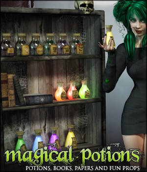 Magical Potions 3D Models lilflame