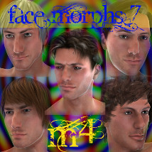 Farconville's Face Morphs for Michael 4 Vol.7 3D Figure Essentials 3D Models farconville