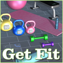 Get Fit 3D Models JudibugDesigns