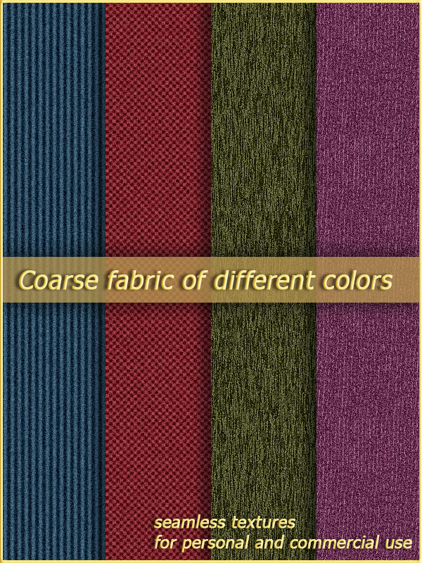 OB Coarse fabric of different colors