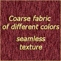 OB Coarse fabric of different colors 2D And/Or Merchant Resources olbor