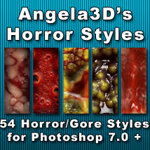 Angela3D's Horror Styles Themed 2D And/Or Merchant Resources Angela3D