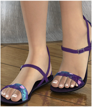 Steppin: Pretty Sandals 3D Figure Assets 3-DArena