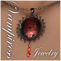 Vampiress Jewelry for V4 3D Figure Assets 3D Models jonnte