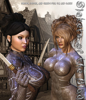 Sisters of the Blade 3D Figure Assets 3D Models Darkworld