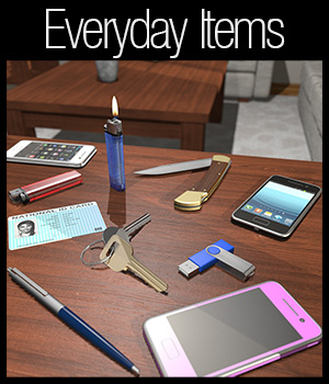 Everyday items: From your pockets 3D Models 2nd_World