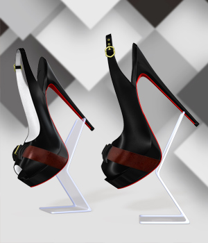 Slingbacks High Heel Shoes 3D Figure Assets Arryn