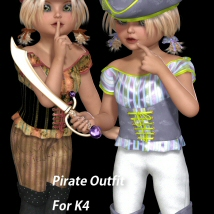 K4 Pirate 3D Figure Assets 3DTubeMagic