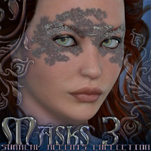 Surreal Accents Collection: Masks 3 3D Figure Assets 3D Models surreality