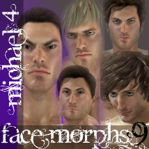 Farconville's Face Morphs for Michael 4 Vol.9 3D Figure Essentials farconville