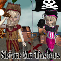 Shiver Me Timbers 3D Figure Essentials 3D Models JudibugDesigns