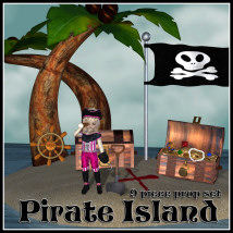 Pirate Island 3D Models JudibugDesigns
