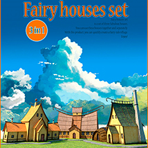 Fairy houses set 3D Models 1971s