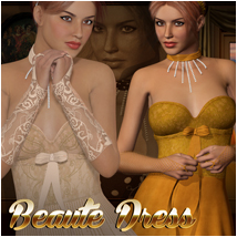 Beaute Dress 3D Figure Assets Atenais