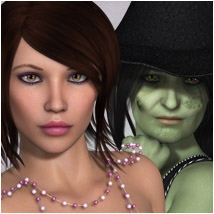Morag for V4 and Genesis 3D Figure Essentials 3D Models OziChick