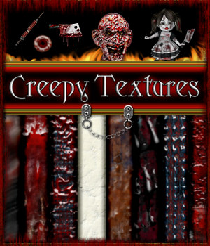 Creepy Horrors Texture Pack  2D 3D Models fractalartist01