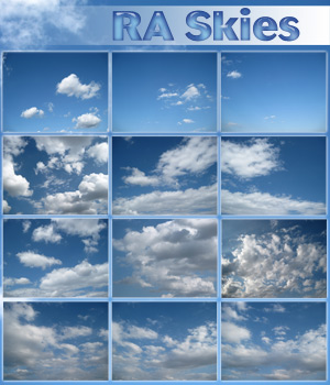 RA Skies Stock Photography 2D And/Or Merchant Resources Themed RAGraphicDesign