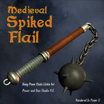 Medieval Spiked Flail_SFL 3D Models 3D Figure Essentials pappy411