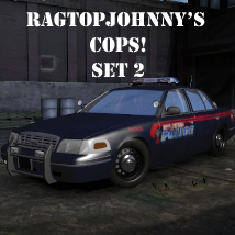 Ragtopjohnny's COPS! Set 2 3D Models Ragtopjohnny